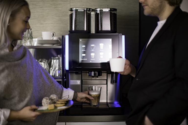 kaffeautomat på jobbet