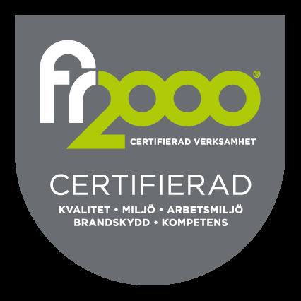 Certifierade enligt FR2000