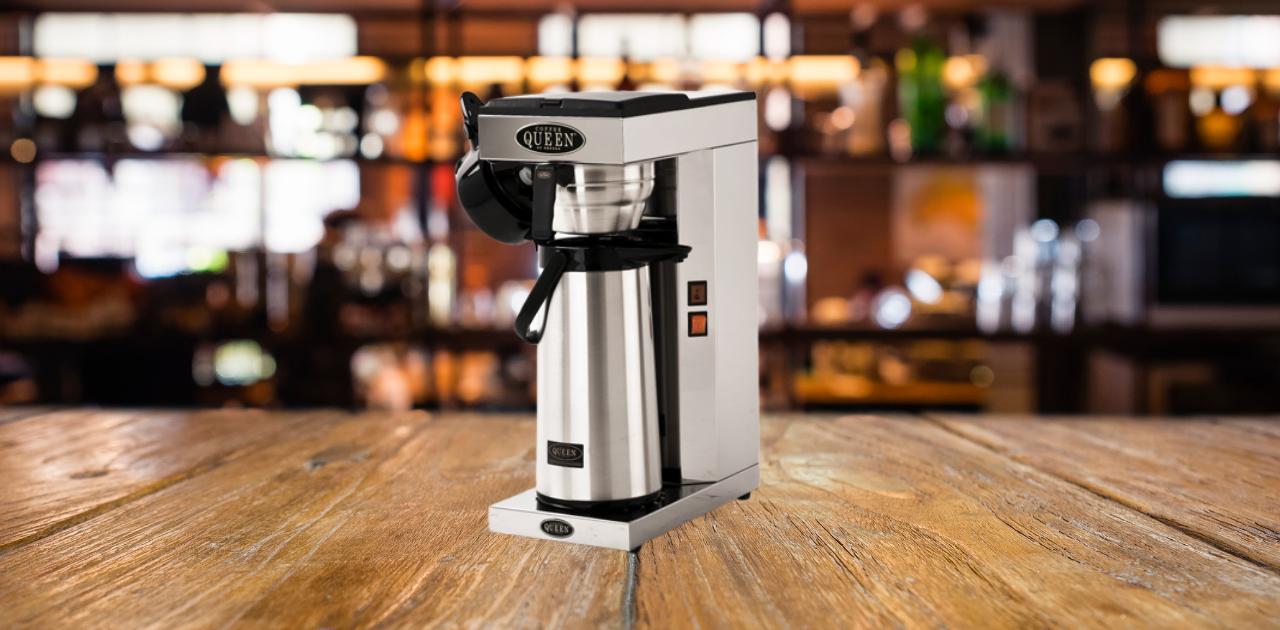 Tips på kaffebryggare med termos för arbetsplatsen