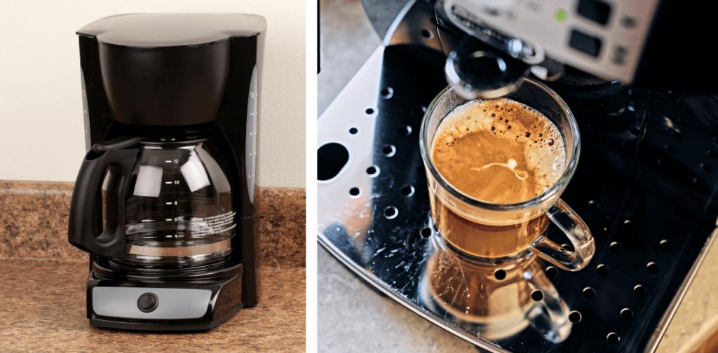 Kaffebryggare eller kaffemaskin